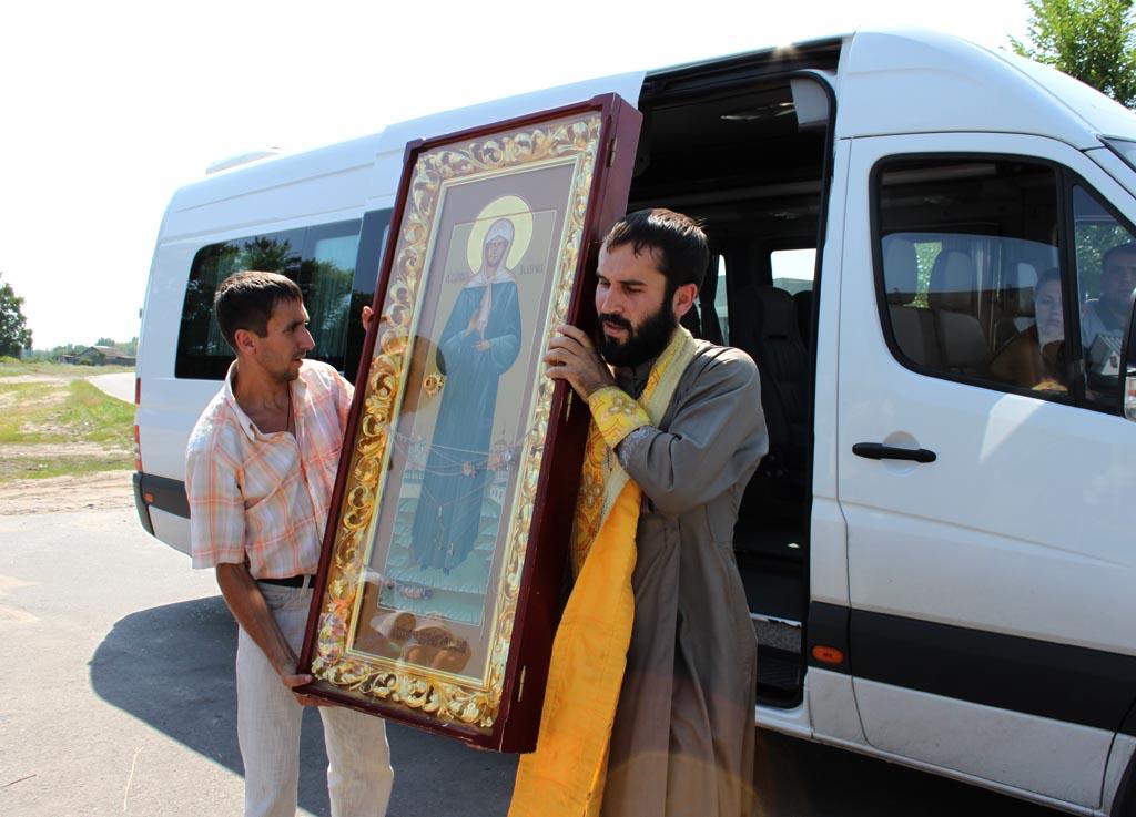 где находиться икона святой матроны: